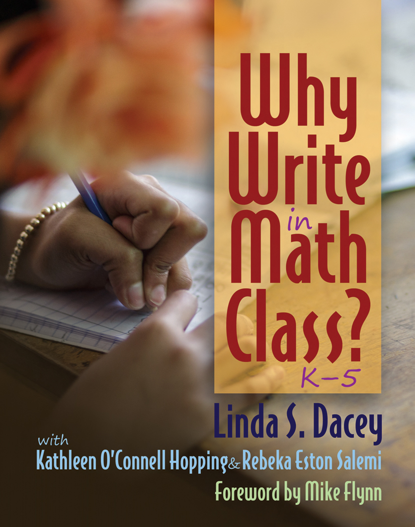 Why Write in Math Class? K-5 | Stenhouse Publishers